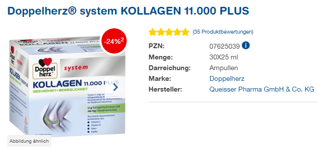 Đánh giá Collagen thủy phân Doppelherz Kollagen 11000 Plus