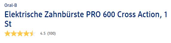 Đánh giá bàn chải điện Oral B Pro 600