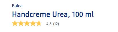 Kem dưỡng tay Balea Handcreme Urea được người dùng Đức đánh giá tốt