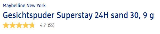 Đánh giá phấn phủ Maybelline Superstay 24H Puder Sand 30