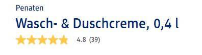 Đánh giá sữa tắm Penaten Wasch & Duschcreme 400ml