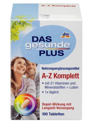 Vitamin tổng hợp DAS gesunde PLUS A Z Komplett 100 viên