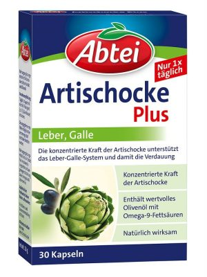 Viên Uống Mát Gan Giải Độc Abtei Artischocke, 30 Viên