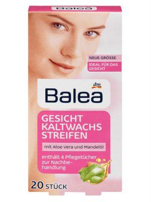 Miếng Dán Tẩy Lông Vùng Mặt Balea Gesicht Kaltwachsstreifen, 20 Miếng