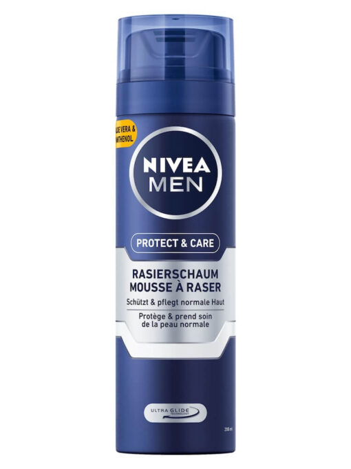 Bọt Cạo Râu Nivea Men Rasierschaum Protect & Care, 200 ml