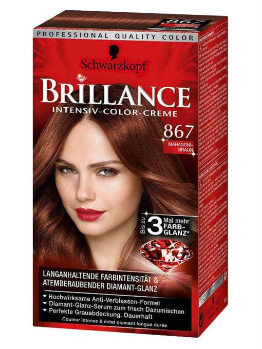Thuốc Nhuộm Tóc Brillance Intensiv Color Creme 867 Gỗ Gụ Nâu, 143 ml