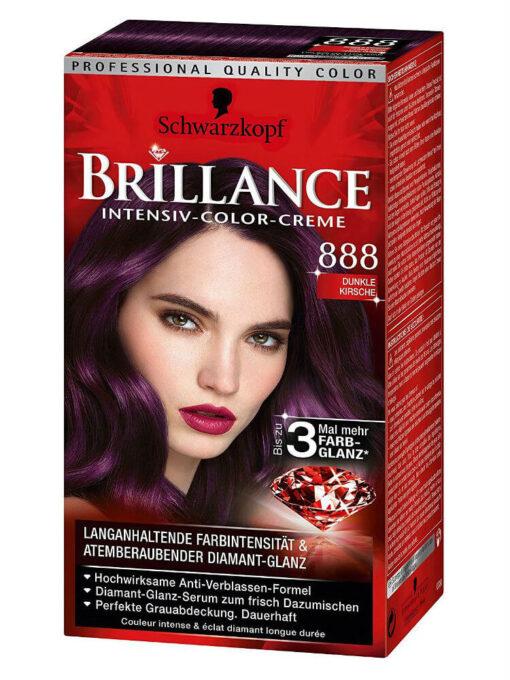 Thuốc Nhuộm Tóc Brillance Intensiv Color Creme 888 Anh Đào Đen, 143 ml