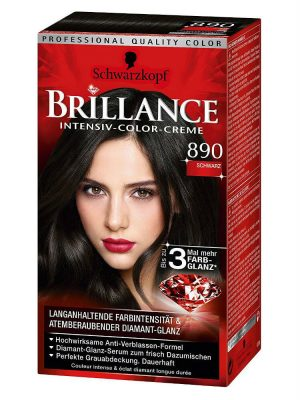 Thuốc Nhuộm Tóc Brillance Intensiv Color Creme 890 Màu Đen, 143 ml