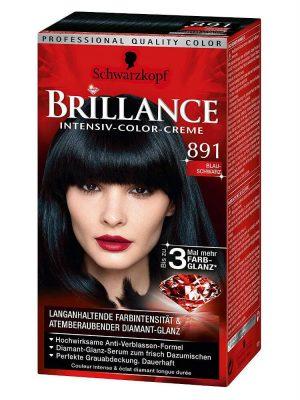Thuốc Nhuộm Tóc Brillance Intensiv Color Creme 891 Xanh Đen, 143 ml