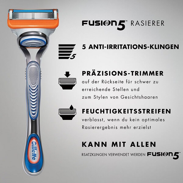 Công nghệ dao cạo râu Gillette Fusion 5