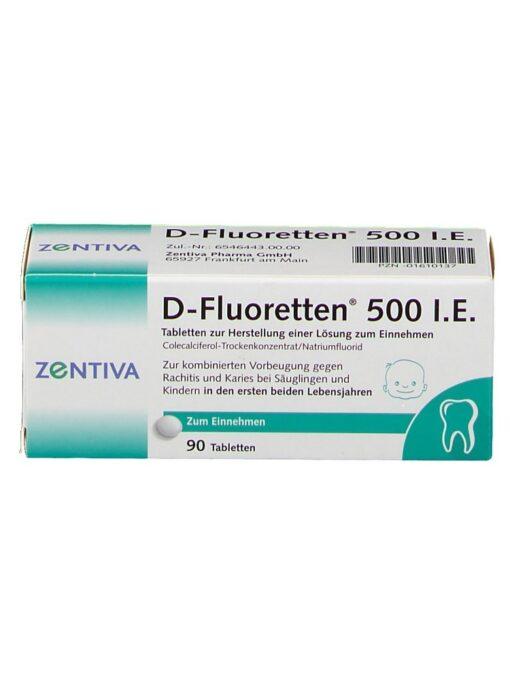 Vitamin D Fluoretten 500 IE, 90 viên