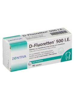 Vitamin D Fluoretten 500 IE, 90 viên