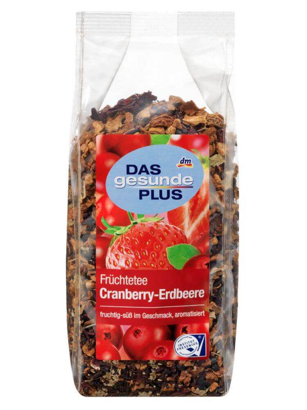 Trà Hoa Quả Khô Das Gesunde Plus Cranberry Erdbeere, 200 g