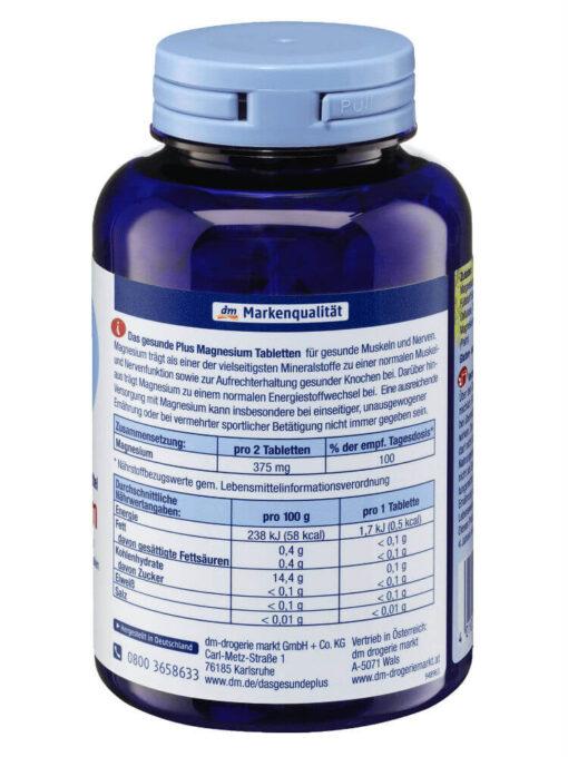 Viên Uống Das Gesunde Plus Magnesium Giúp Cơ Bắp & Thần Kinh Khỏe Mạnh, 300 Viên