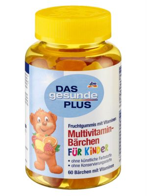 Kẹo Gấu Của ĐứcDAS gesunde PLUS Multivitamin Barchen, 60 Viên