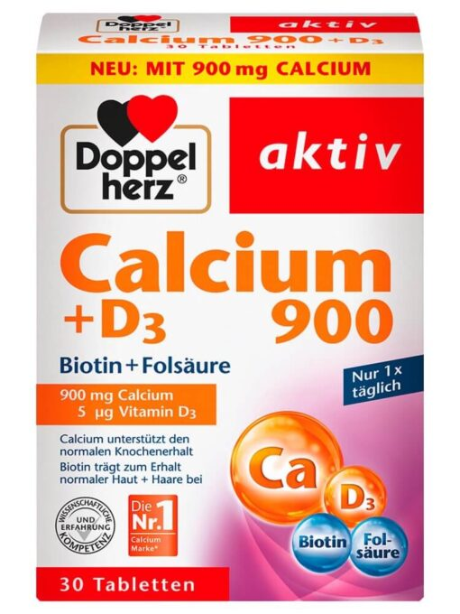 Viên uống Doppelherz calcium d3 900, 30 viên