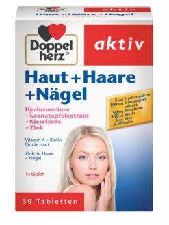 Vìên Uống Đẹp Da, Tóc, Móng Doppelherz Aktỉv Haut + Haare + Nagel, 30 viên