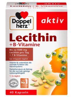 Viên Uống mầm đậu nành Doppelherz Lecithin B Vitamine
