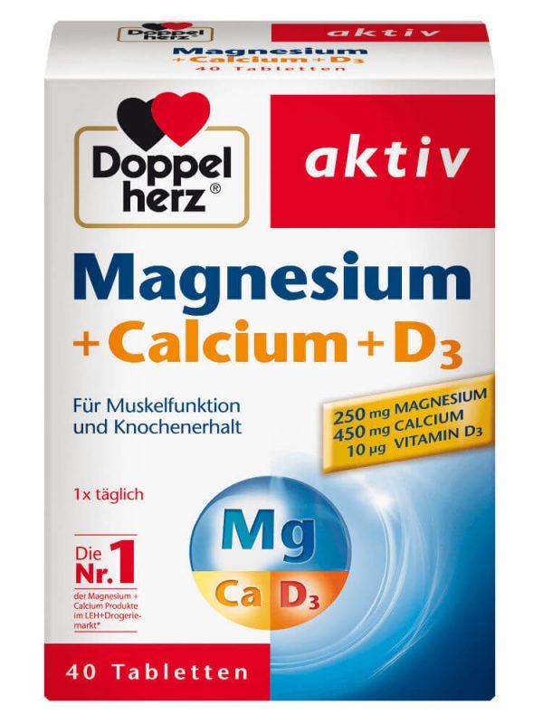 Viên Uống Doppelherz Magnesium Calcium D3, 40 viên