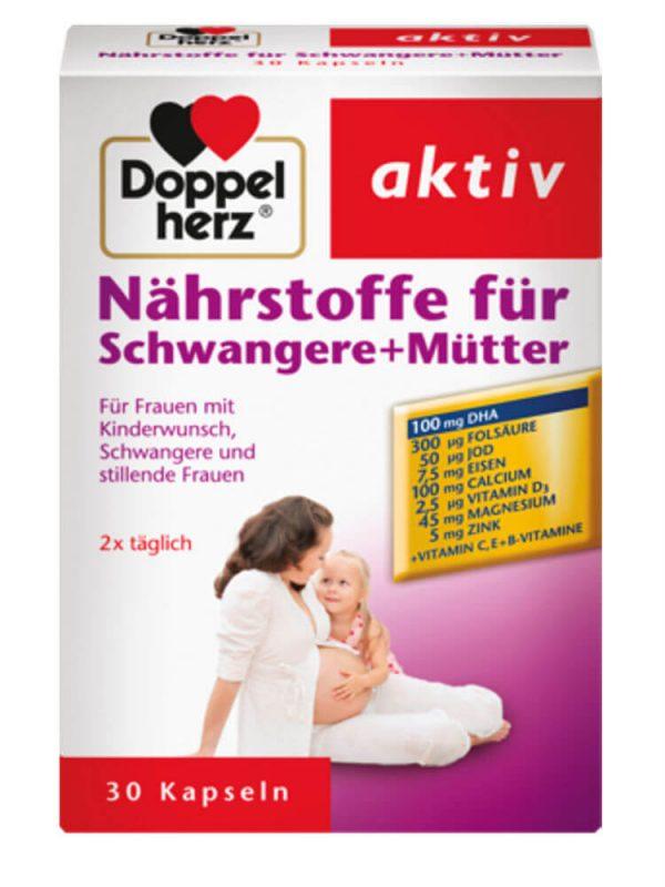 Vitamin tổng hợp cho bà bầu Doppelherz aktiv, 30 viên