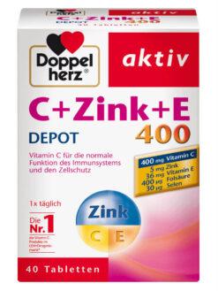 Doppelherz C Zink E 400 DEPOT, 40 viên