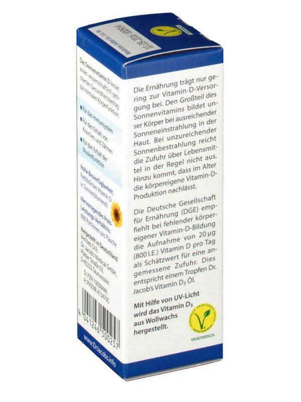 Dầu Dr.Jacob's Vitamin D3 800 I.E, 20 ml