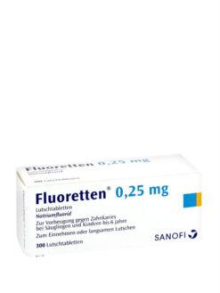 Viên ngậm chắc răng, ngừa sâu răng Sanofi Fluoretten 0.25 mg, 300 viên