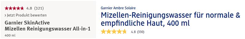 Nước tẩy trang Garnier Mizellen Reinigunswasser All in 1 Normale Haut 400ml