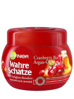 Ủ Tóc Garnier Wahre Schatze Tinh Dầu Argen Và Quả Cranberry Cho Tóc Nhuộm, 250 ml
