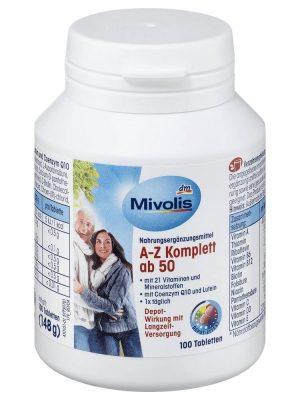 Vitamin Tổng Hợp Mivolis A Z Komplett ab 50, 100 Viên