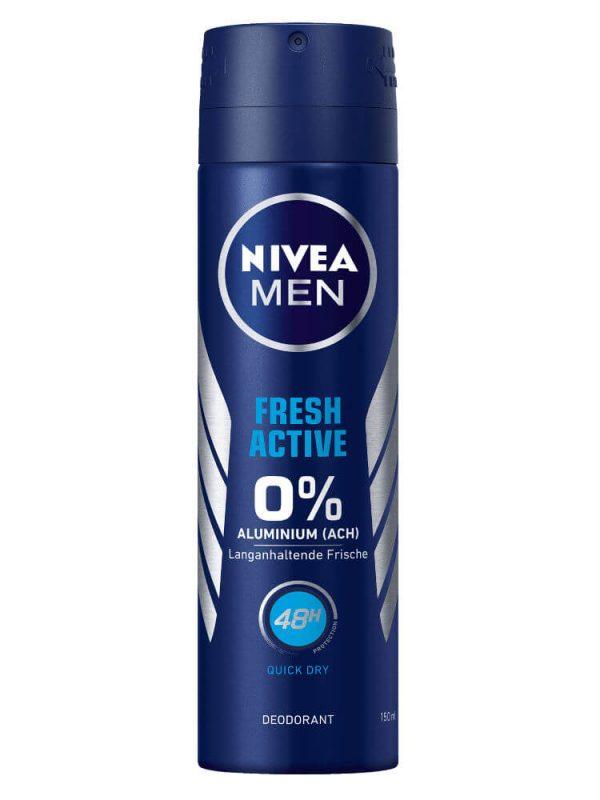 Xịt khử mùi Nivea Men Fresh Active, 150ml