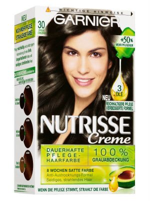 Thuốc Nhuôm Tóc Garnier Nutrisse 30 Nâu Sẫm Cà Phê