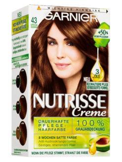 Thuốc Nhuôm Tóc Garnier Nutrisse 43 Vàng Nâu Cà Phê Sữa