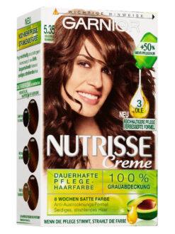 Thuốc Nhuôm Tóc Garnier Nutrisse 5.35 Nâu Vàng