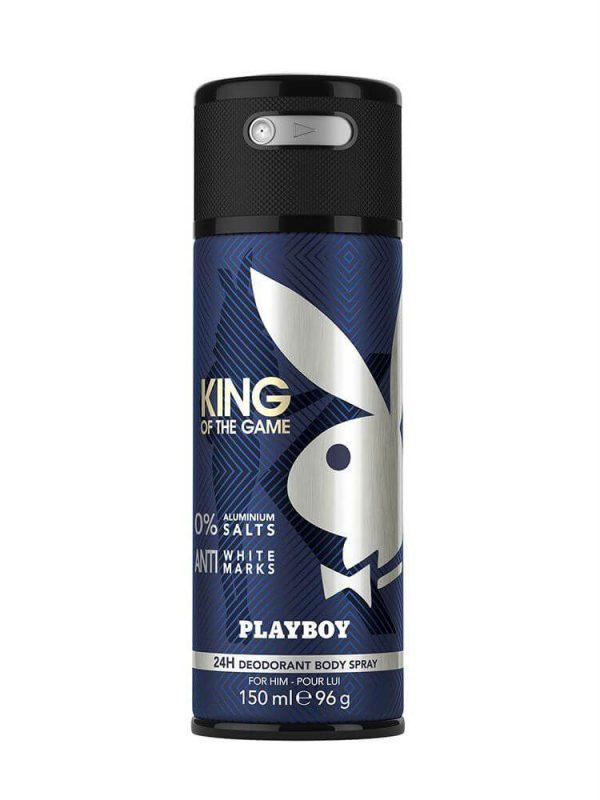 Xịt Khử Mùi Playboy Cơ Thể Nam Playboy King Of The Game, 150ml