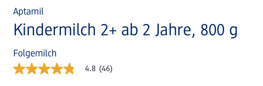 Sữa Aptamil Kindermilch 2+, 800g