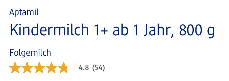 Đánh giá chất lượng Aptamil Kindermilch 1+