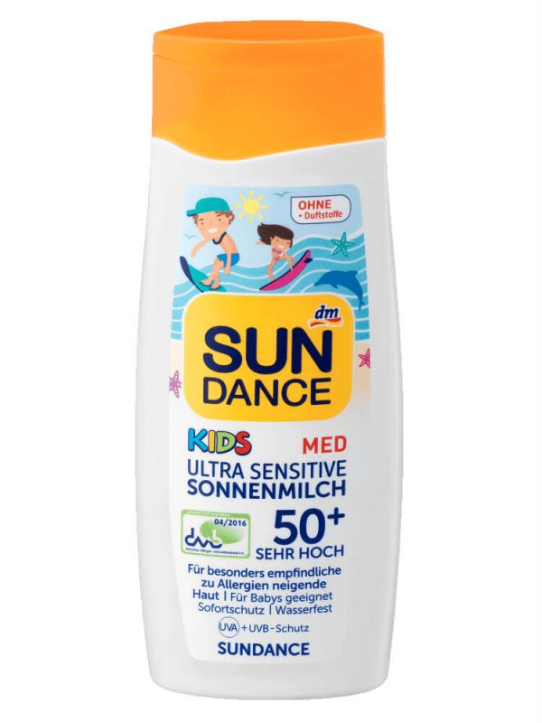 Sundance Med Kids Ultra Sensitive Sonnemilch Spf 50+, 200 ml