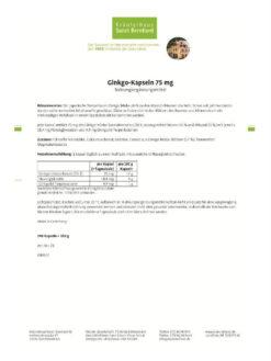 Viên Uống Bổ Sanct Bernhard Ginkgo Kapseln 75 mg, 240 Viên Nang