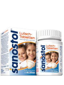 Viên Ngậm Sanostol Lutschtabletten Multi-Vitmine + Calcium, 75 viên