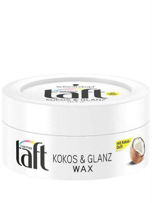 Sáp Vuốt Tóc Taft Kokos & Glanz Wax, 75 ml