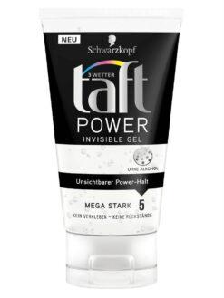 Gel Vuốt Tóc Taft Power Invisible Gel, 150 ml