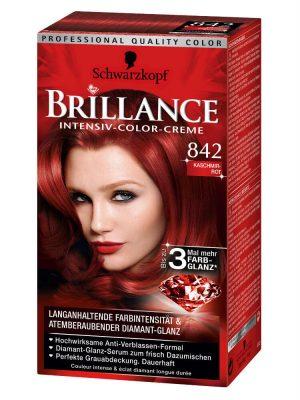 Thuốc Nhuộm Tóc Brillance Intensiv Color Creme 842 Đỏ Len, 143 ml