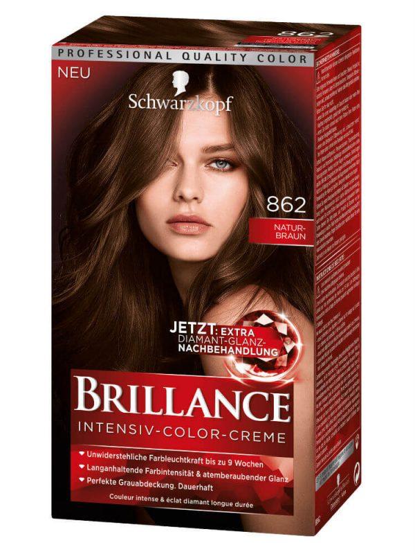 Thuốc Nhuộm Tóc Brillance Intensiv Color Creme 862 Nâu Tự Nhiên, 143 ml