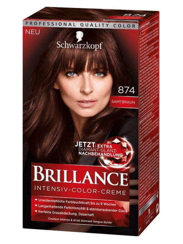 Thuốc Nhuộm Tóc Brillance Intensiv Color Creme 874 Màu Nhung Nâu, 143 ml