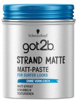 Sáp vuốt tóc got2b strand matte Matt-Paste, 100 ml