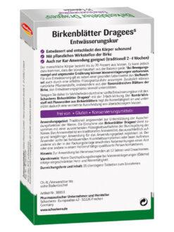 Thuốc giảm cânSchaebens Birkenblatter Dragees, 35 viên