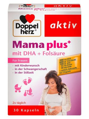 Vitamin tổng hợp cho bà bầu Doppelherz Mama plus, 30 viên