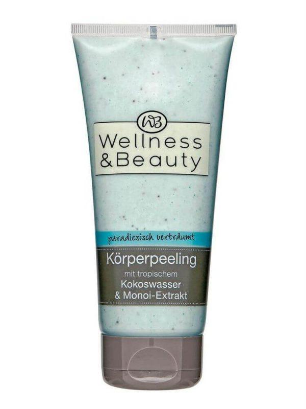 Tẩy Da Chết Wellness & Beauty Korperpeeling - Với Chiết Xuất Dừa & Momoi, 200ml