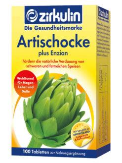 Thuốc bổ gan Zirkulin Artischocke Plus Enzian, 100 viên